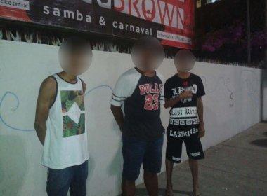 Pichadores detidos no bairro do Rio Vermelho pela Guarda Municipal