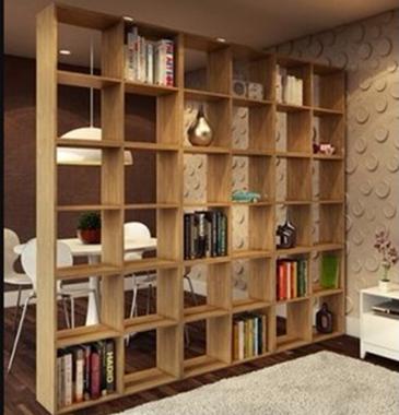 partisi ruang tamu dengan desain unik