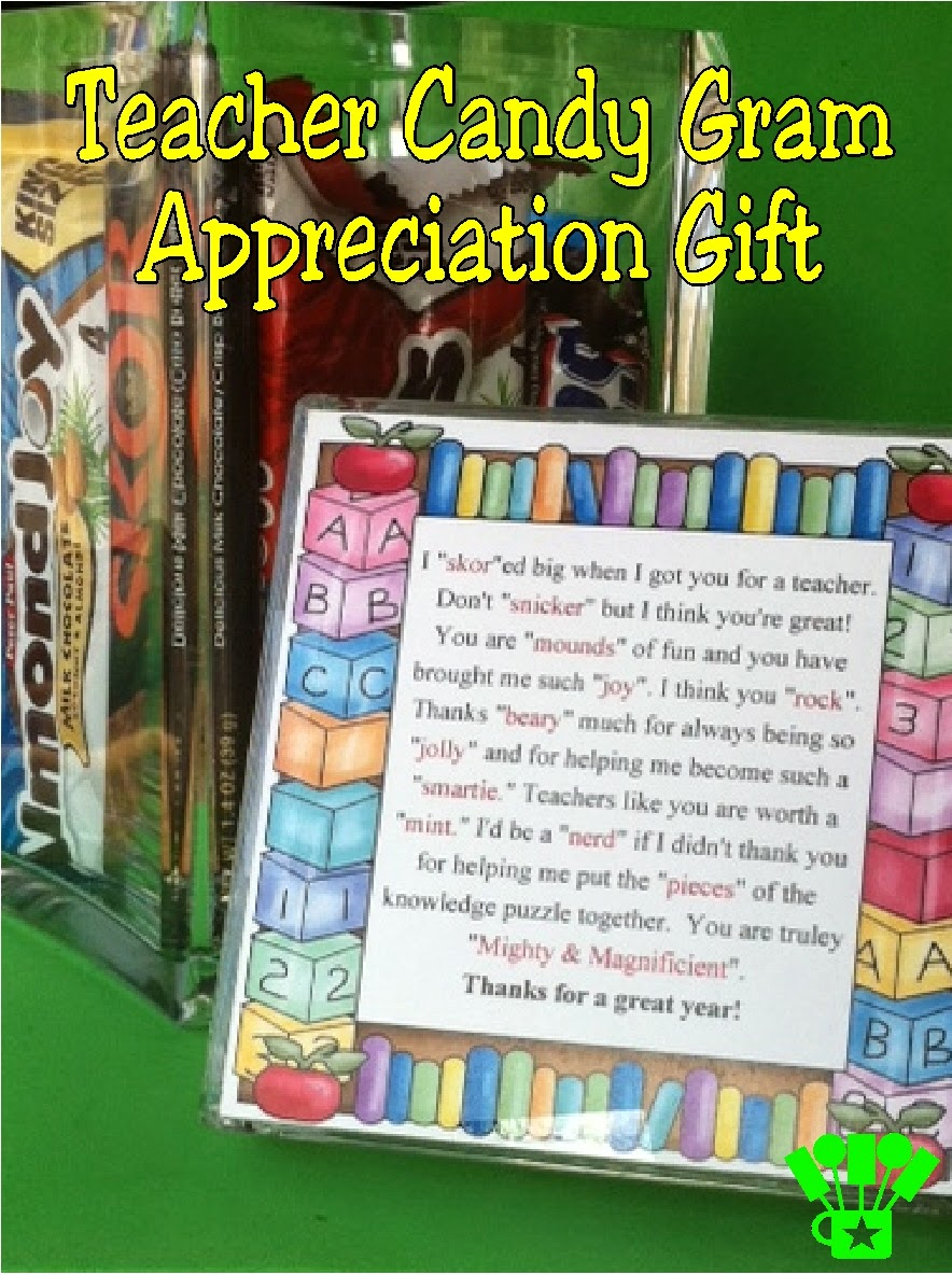 Teacher Appreciation Candy Gram Gift by Kandy Kreations. A sweet present for that SPECIAL teacher in your child's life!