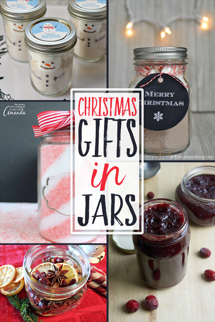 Fun gift ideas for the holidays in jars!
