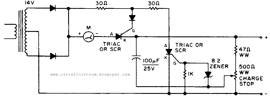 New Automatic Shutoff Battery Charger Circuit Diagram