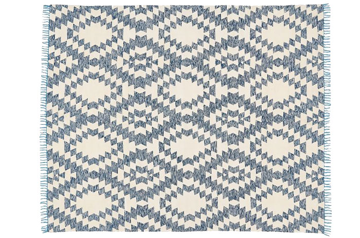 Blue Rug from West Elm | 20 Classic Style Rugs for Any Budget at www.andersonandgrant.com
