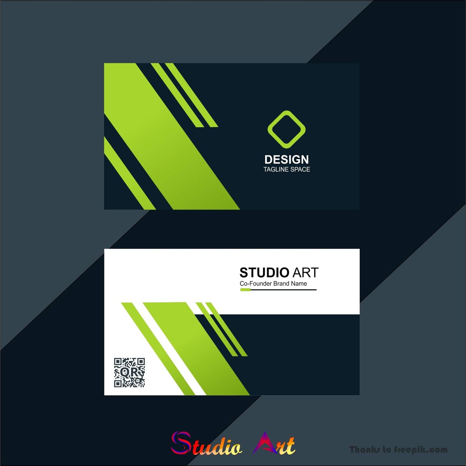 Desain Id Card Dengan Tampilan Yang Simpel Studio Art