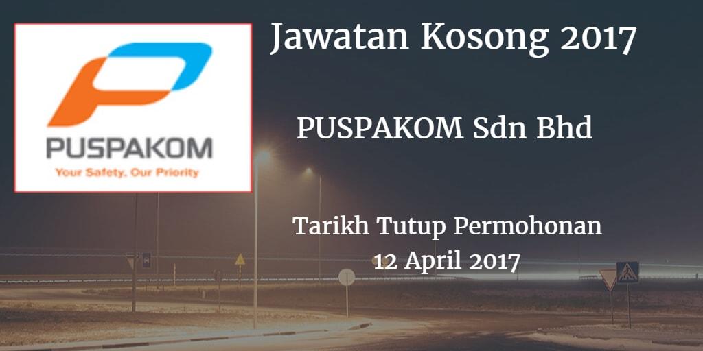 Jawatan Kosong PUSPAKOM Sdn Bhd 12 April 2017