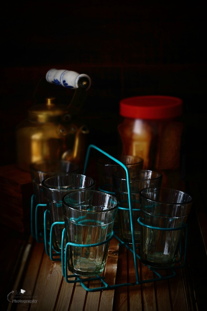 An image of traditional tempered glasses in which Indian tea is served, particularly from a chaiwala