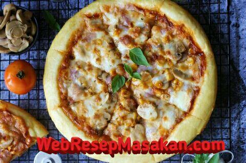 No Knead Pizza dough, Resep no knead pizza,