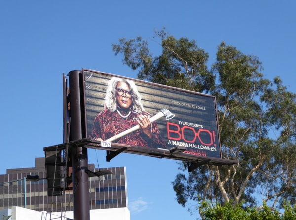 Boo Madea Halloween film billboard