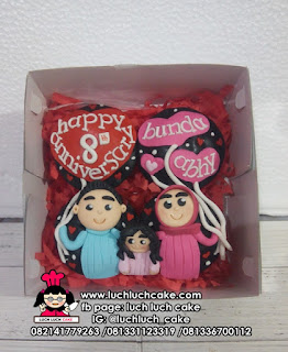 Cupcake Fondant 2d Isi 4 Tema Romantis