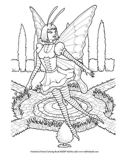 Goth Fairy Coloring Page By Tablynn Goth Fairy Coloring Page By Tablynn