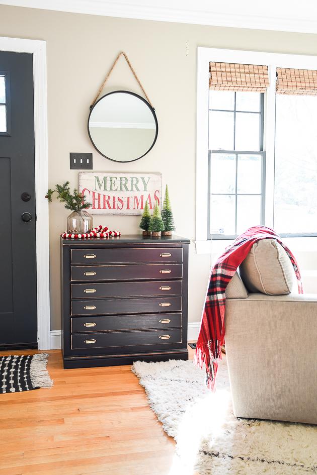 Christmas decor, entryway, holiday decor, Merry Christmas