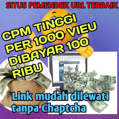 Terbaru!!! Website REALSHT pemendek URL terbaik CPM tinggi 1000 vieu dibayar 100 ribu