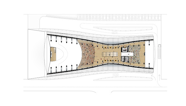 Upper floor plan of the new church