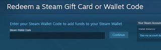 cara memasukan steam wallet code