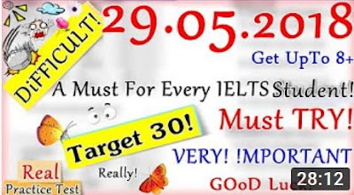 IELTS LISTENING PRACTICE TEST 2018 WITH ANSWERS | 29.05.2018