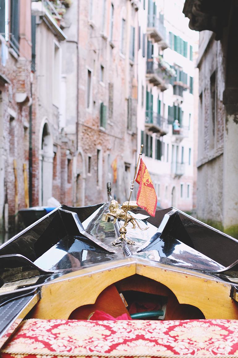 Venetian flag gondola