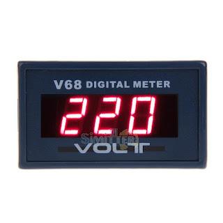 New Red LED Digital Ammeter Voltmeter LCD Panel Display Volt Meter AC 0-600V
