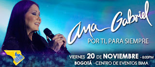 "Ana Gabriel en Bogotá 2015 en su tour ""Por Ti, para siempre"""