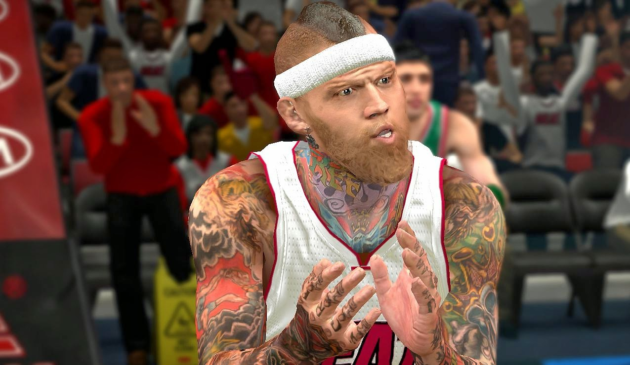 Chris Andersen Mohawk & Beard | NBA 2K14
