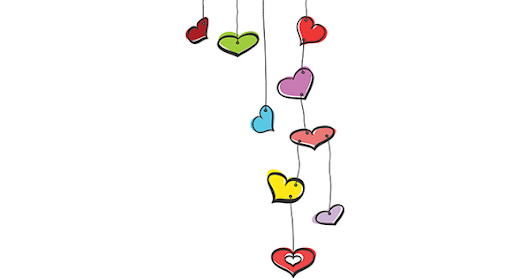 Colored Hearts on Strings