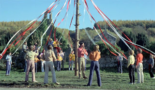 The maypole scene from The Wicker Man (1973)