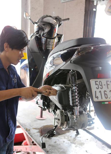 Bảo dưỡng xe Honda Sh chuyên nghiệp tại Tphcm