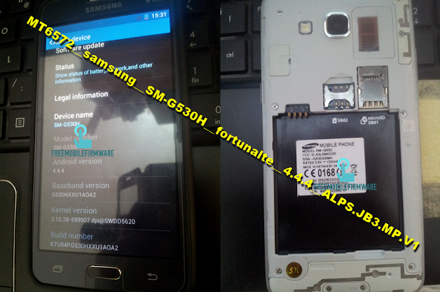 How To Flash Samsung Grand Prime Clone MT6572__samsung__SM-G530H__fortunalte__4.4.4__ALPS.JB3.MP.V1