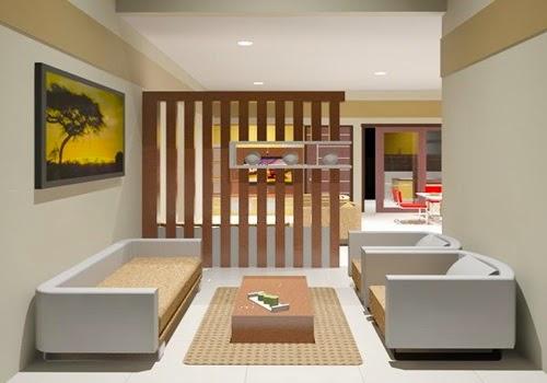 Ruang tamu minimalis type 45