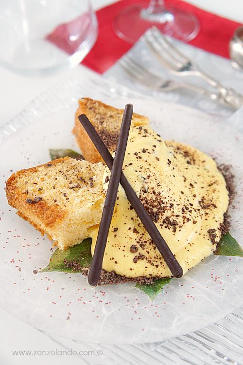 Dolce per natale pandoro con crema al mascarpone - mascarpone cream with pandoro cake recipe