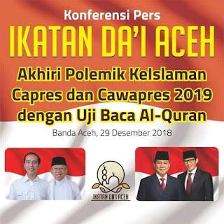 Dewan Ikatan Da'i Aceh mengajukan uji mengaji capres dan cawapres
