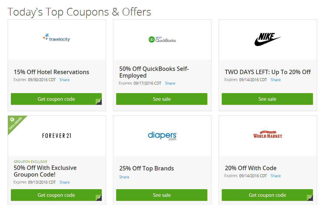 Shop and save coupons