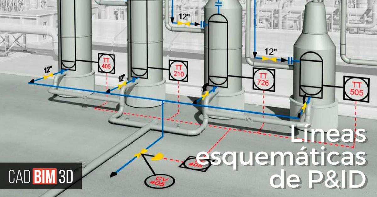 Acerca de las Lineas Esquemáticas en AutoCAD Plant 3D - cadBIM3D
