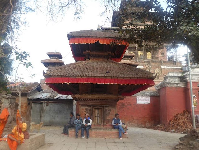 Tempio a Durbar square a kathmandu