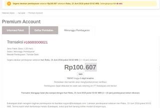 Ilustrasi Gambaran Transaksi Penjualan Produk Account Premium Bukalapak