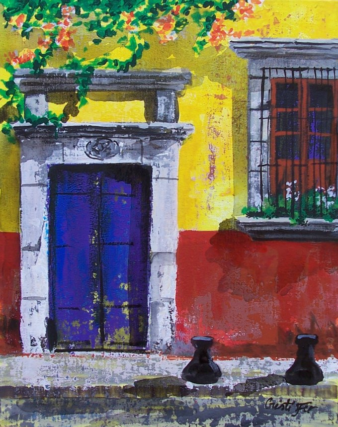 New painting from the doors of San Miguel series & Cristi Fer Art Gallery and Workshops San Miguel de Allende Mexico ...