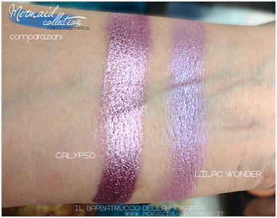 CALYPSO Eyeshedow ombretti Swatches, Comparazione  - MERMAID COLLECTION - NABLA COSMETICS