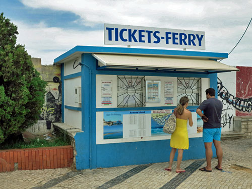 Ferry ticket office in Olhao.