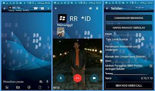 BBM Mod Tema Blackberry Telepon Video 2.13.1.13