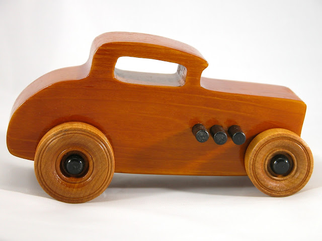 Right Side - Wood Toy Cars - Wooden Cars - Wood Toys - Wooden Car - Wood Toy Car - Hot Rod - 1932 Ford - 32 Deuce Coupe - Little Deuce Coupe - Roadster - Race Car