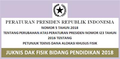 Download Juknis DAK Fisik Pendidkan 2018 SD SMP SMA SMK