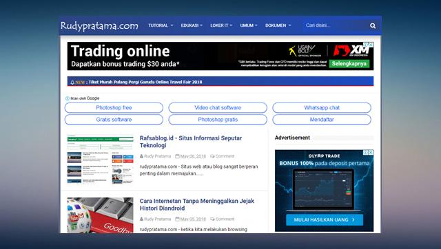 Rudypratama.com, Situs Informasi Teknologi Masa Kini