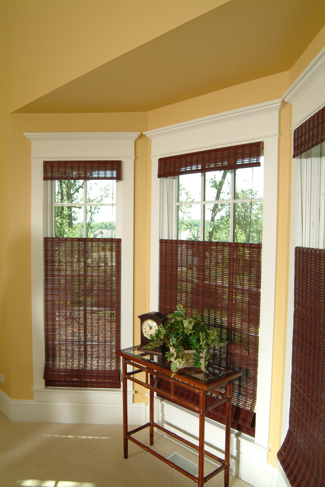 Youngblood interiors clean simple window treatments - Living room picture window treatments ...
