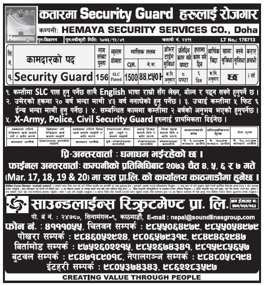 Jobs in Qatar for Nepali, Salary Rs 44,950