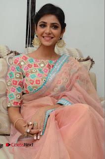 Actress Priyanka Bharadwaj Pictures in Saree at Mister 420 Press Meet  0094.JPG