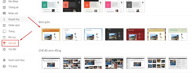 Tùy chỉnh giao diện cho blogspot