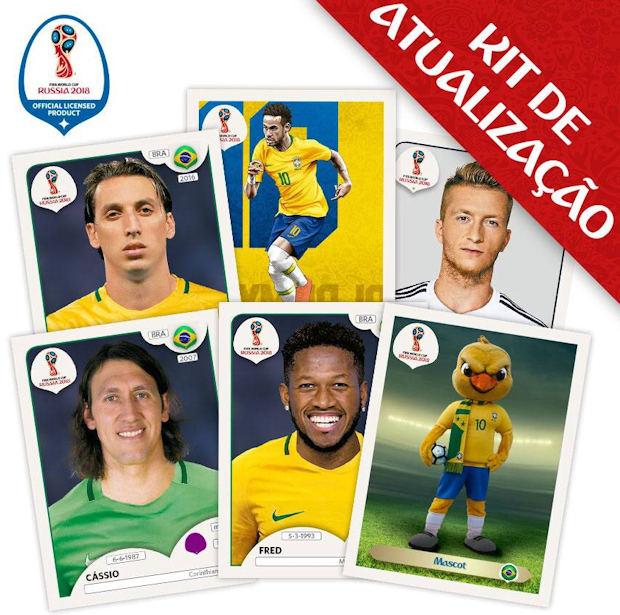 f52c7942d Panini - FIFA World Cup Russia 2018 Sticker Collection (56) - Updates (08)  - Brazil