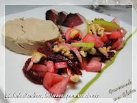http://gourmandesansgluten.blogspot.fr/2017/01/salades-dendives-betterave-pomme-et-noix.html