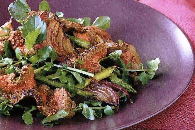 Mustard Beef and Watercress Salad
