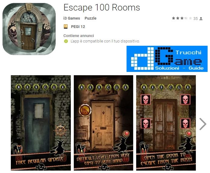 Soluzioni Escape 100 Rooms livello 1 2 3 4 5 6 7 8 9 10 | Trucchi e Walkthrough level