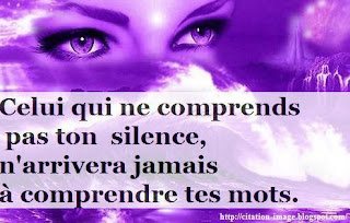 une image citation silence