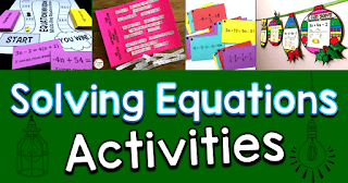 Looking for a fun solving equations activity for algebra? Here is a roundup of fun and engaging solving equations activities from some of my favorite math teachers.